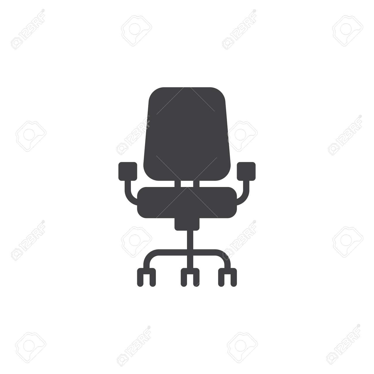Vecteur Dicone De Chaise Bureau Rempli Signe Plat Pictogramme Solide