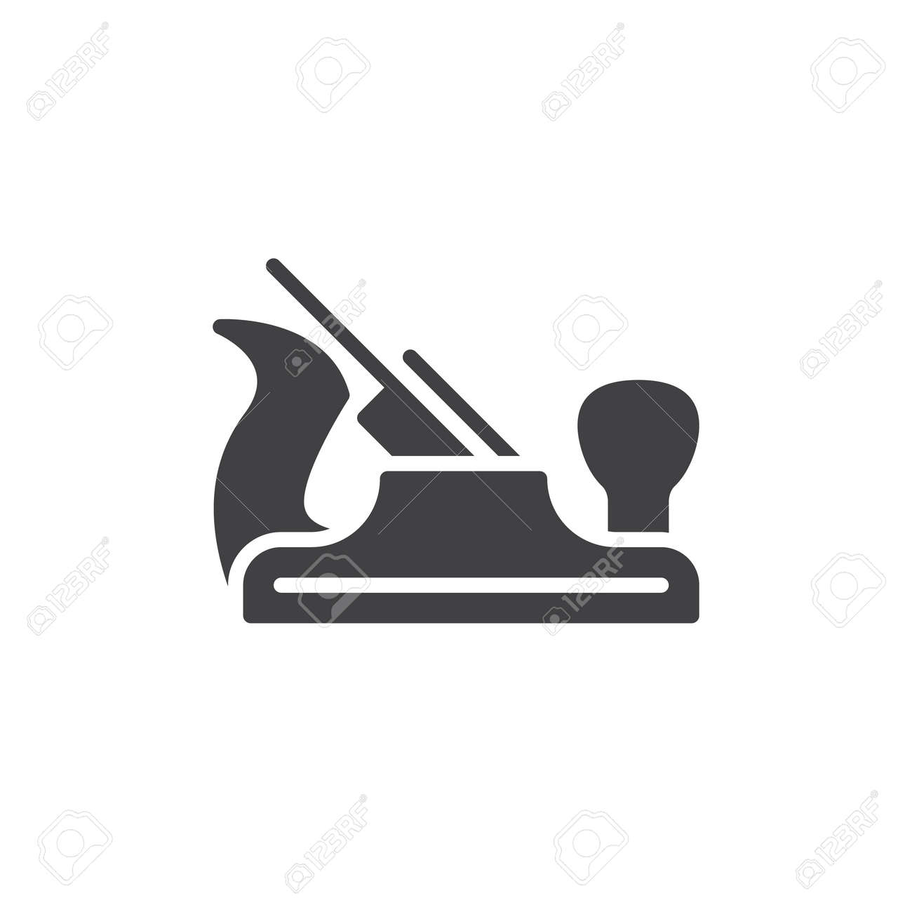 Carpenter Hand Plane Icon Vector Filled Flat Sign Solid Pictogram