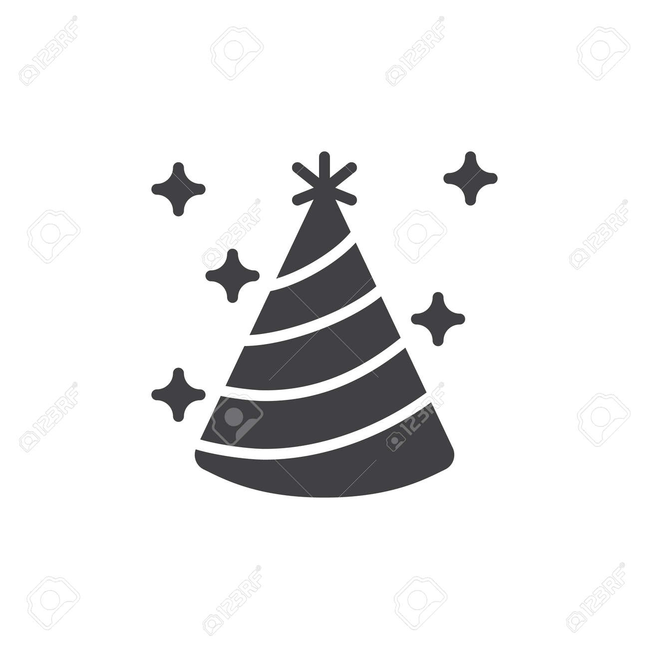 Party Hat Icon Vector Filled Flat Sign Solid Pictogram Isolated
