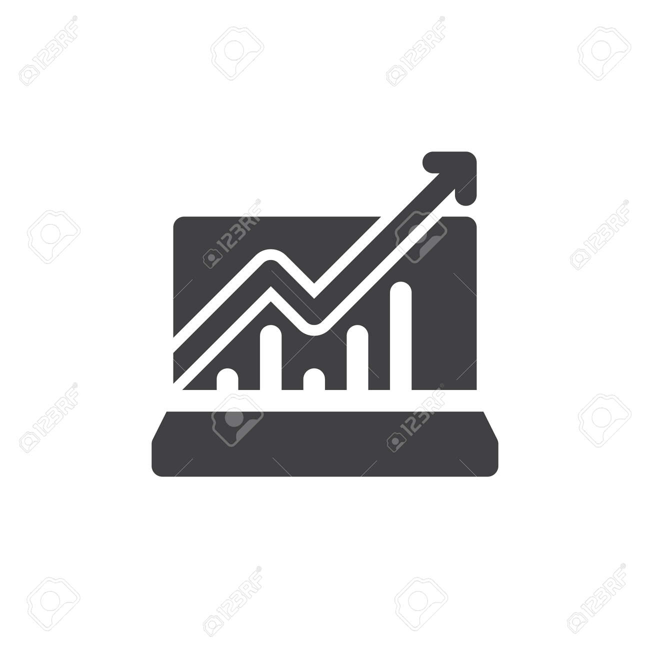 Statistics charts icon vector filled flat sign solid pictogram statistics charts icon vector filled flat sign solid pictogram isolated on white symbol ccuart Images
