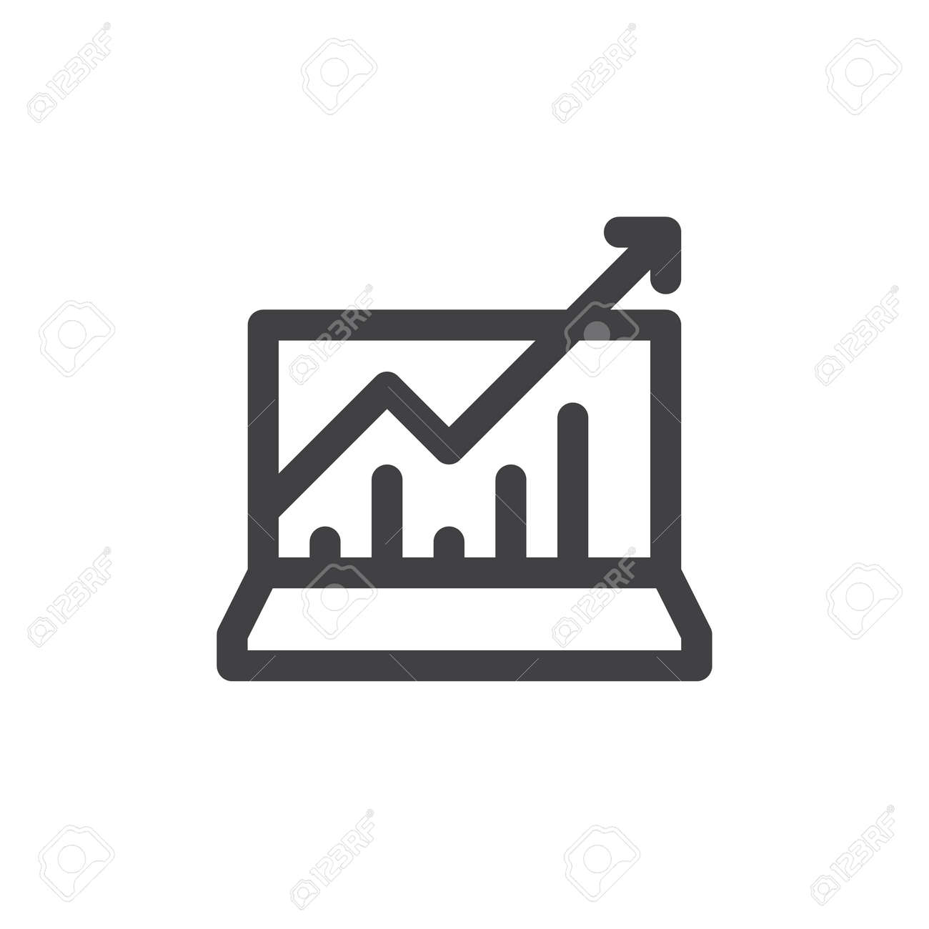 Statistics charts line icon outline vector sign linear style statistics charts line icon outline vector sign linear style pictogram isolated on white ccuart Image collections