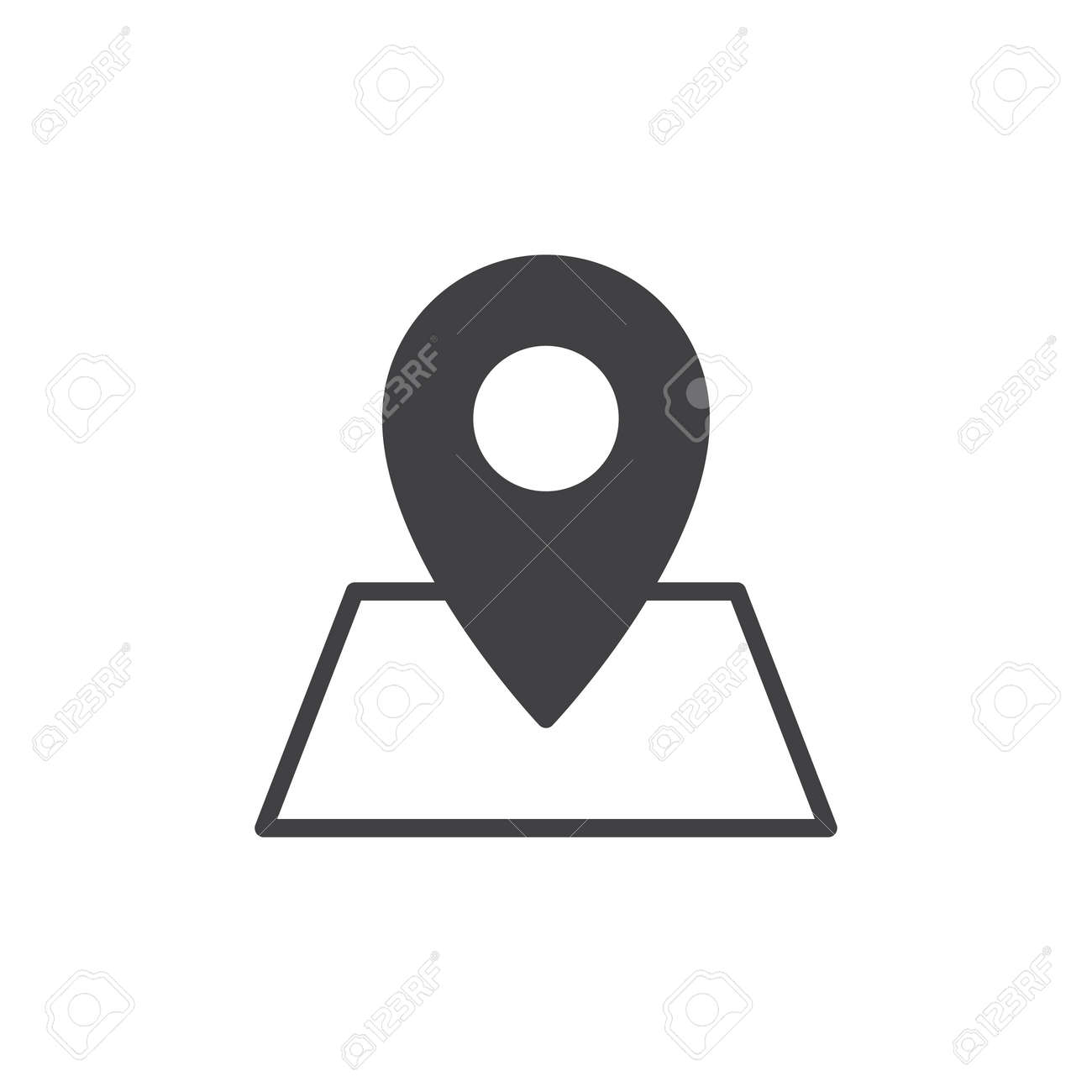Location on map icon vector, filled flat sign, solid pictogram