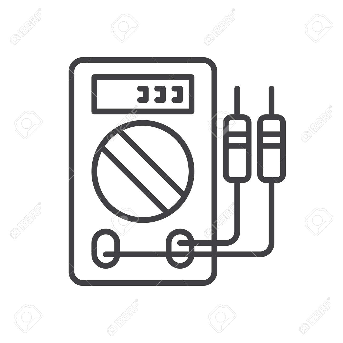 Digital Multimeter Line Icon Outline Vector Sign Linear Style