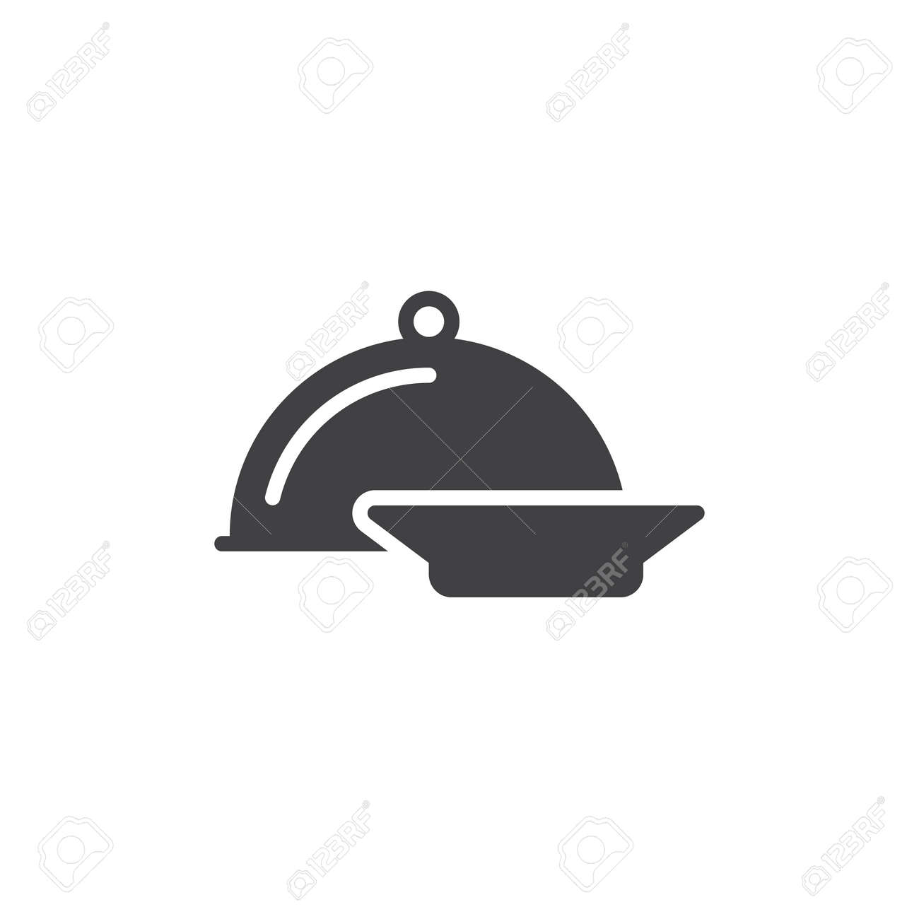 Dinner icon vector filled flat sign solid pictogram isolated on white. Food cover  sc 1 st  123RF.com & Dinner Icon Vector Filled Flat Sign Solid Pictogram Isolated ...
