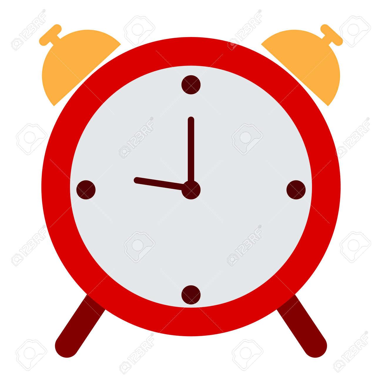 alarm clock icon vector illustration flat style design isolated rh 123rf com calendar clock icons vector alarm clock icon vector free