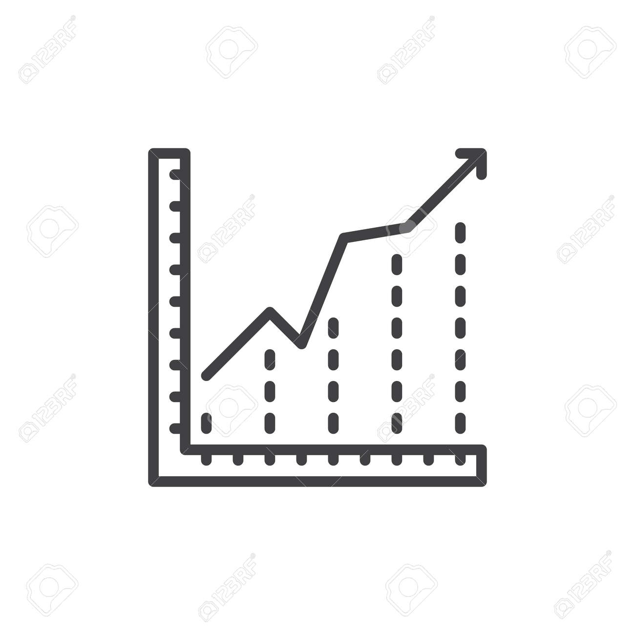 Growing chart line icon outline vector sign linear style pictogram banco de imagens growing chart line icon outline vector sign linear style pictogram isolated on white diagram symbol logo illustration ccuart Choice Image