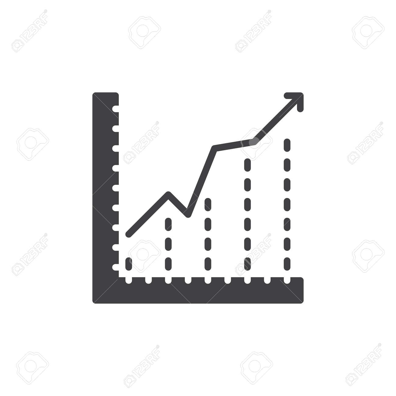 Growing chart icon vector filled flat sign solid pictogram growing chart icon vector filled flat sign solid pictogram isolated on white diagram ccuart Image collections