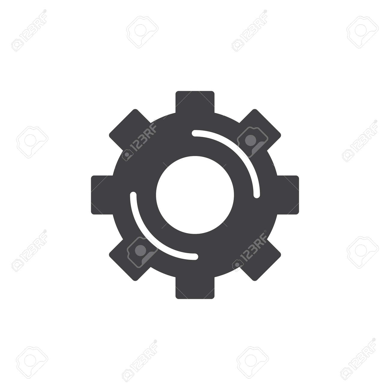 cogwheel gear icon vector filled flat sign solid pictogram rh 123rf com gear shift icon vector settings gear icon vector