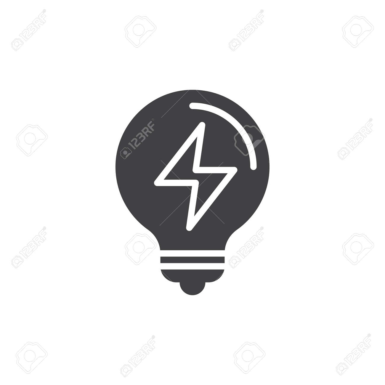 Electric Light Bulb Icon Vector, Filled Flat Sign, Solid Pictogram ...