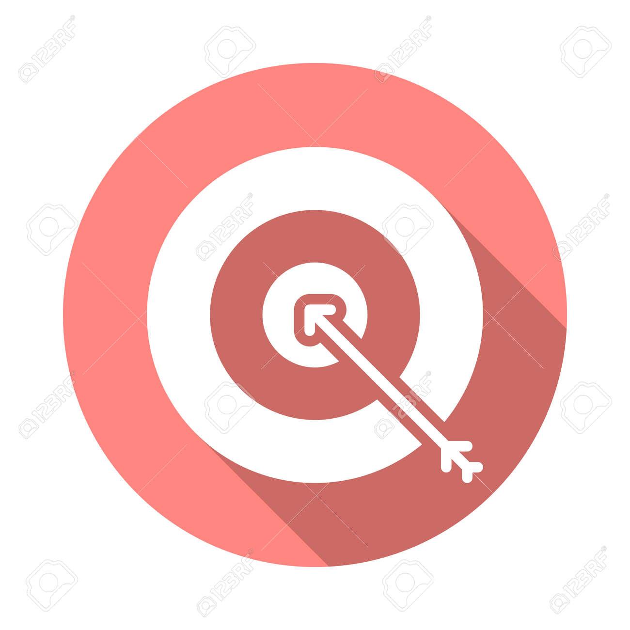 target goal flat icon round colorful button bullseye circular rh 123rf com target free vector download target australia logo vector