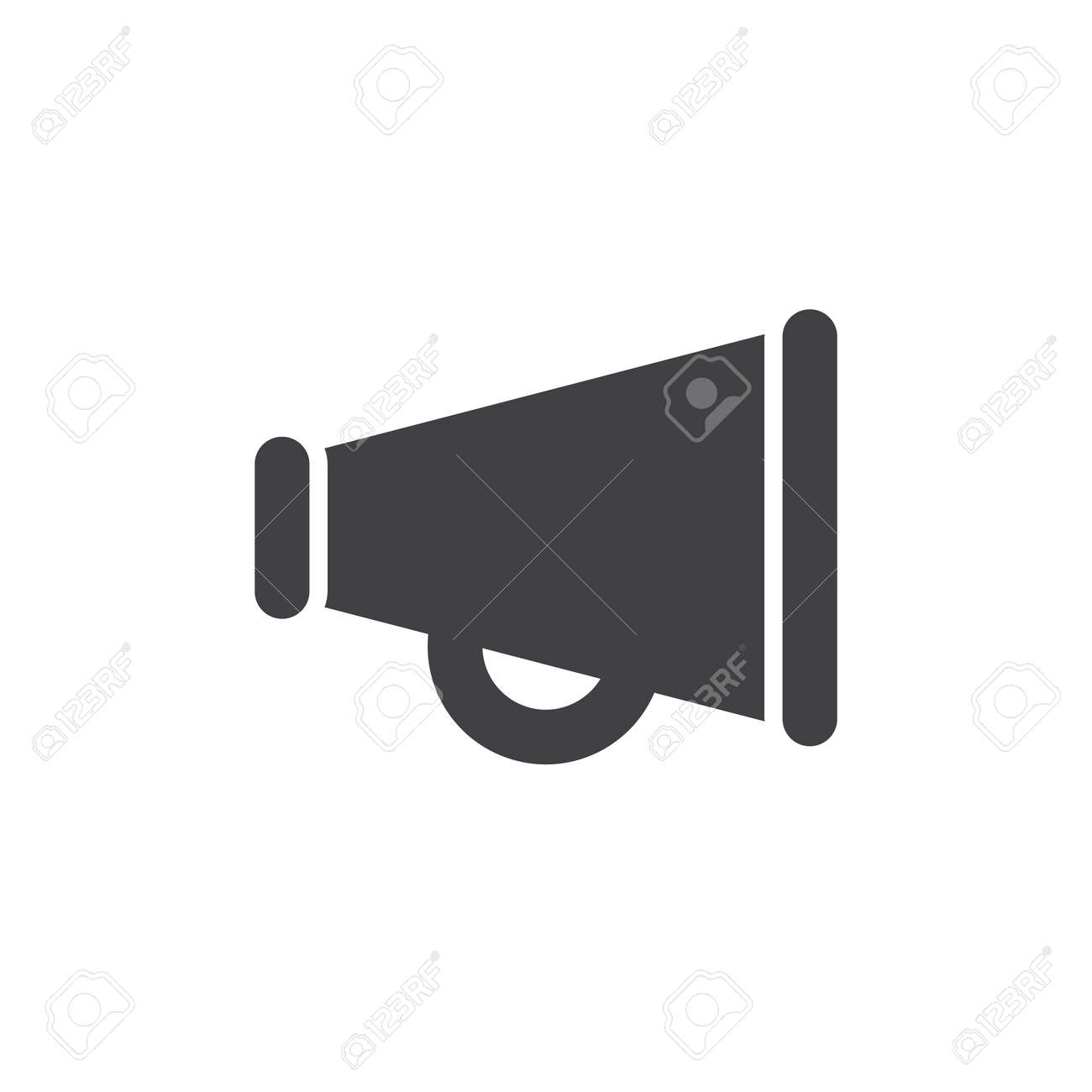 Bullhorn Icon Vector, Filled Flat Sign, Solid Pictogram Isolated ...