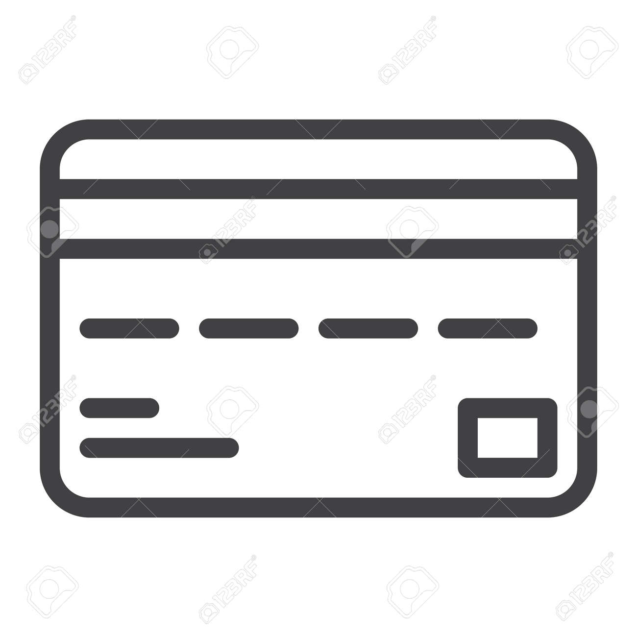 credit card line icon outline vector sign linear style pictogram rh 123rf com credit card logos vector free download black and white credit card logos vector