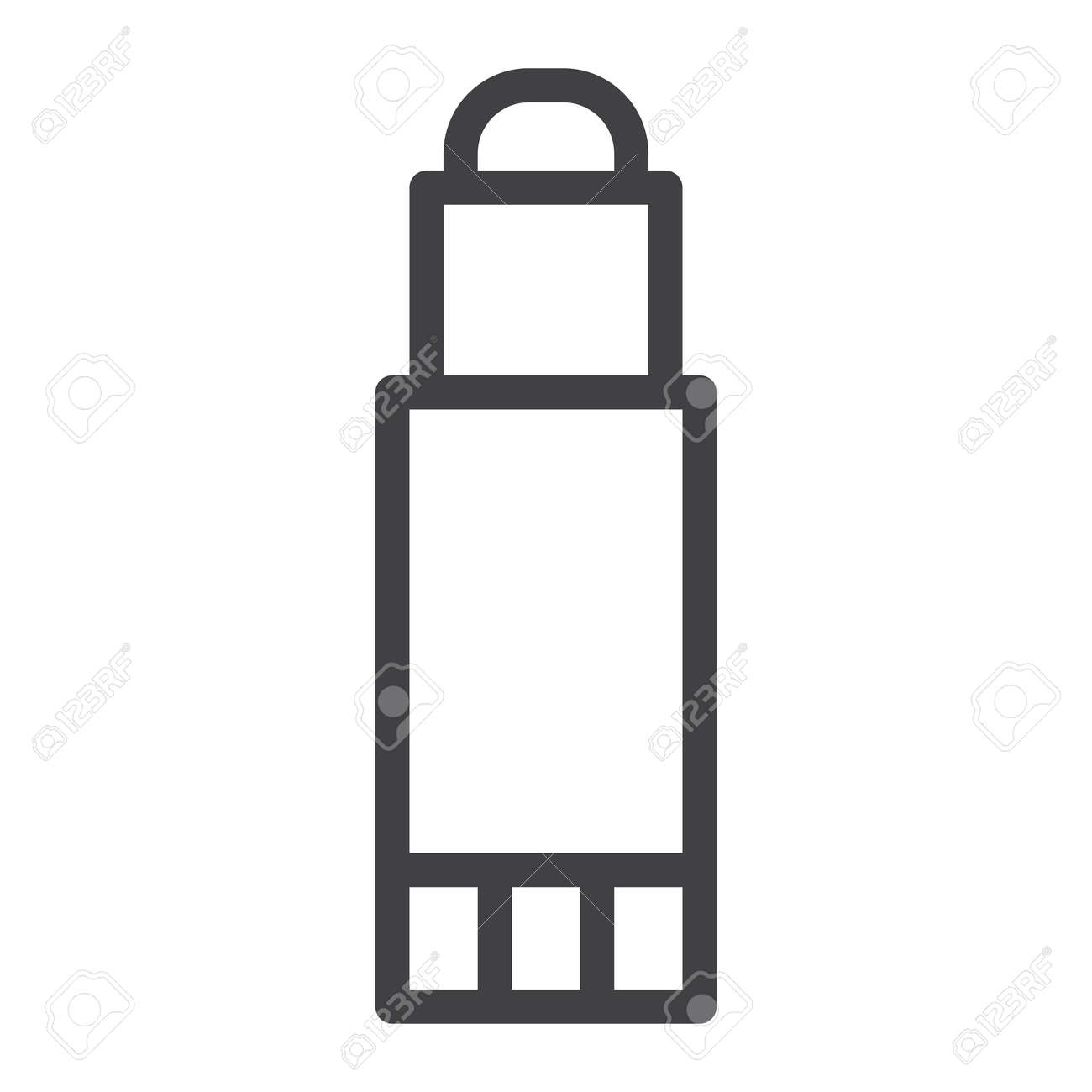 glue stick line icon. royalty free cliparts, vectors, and stock