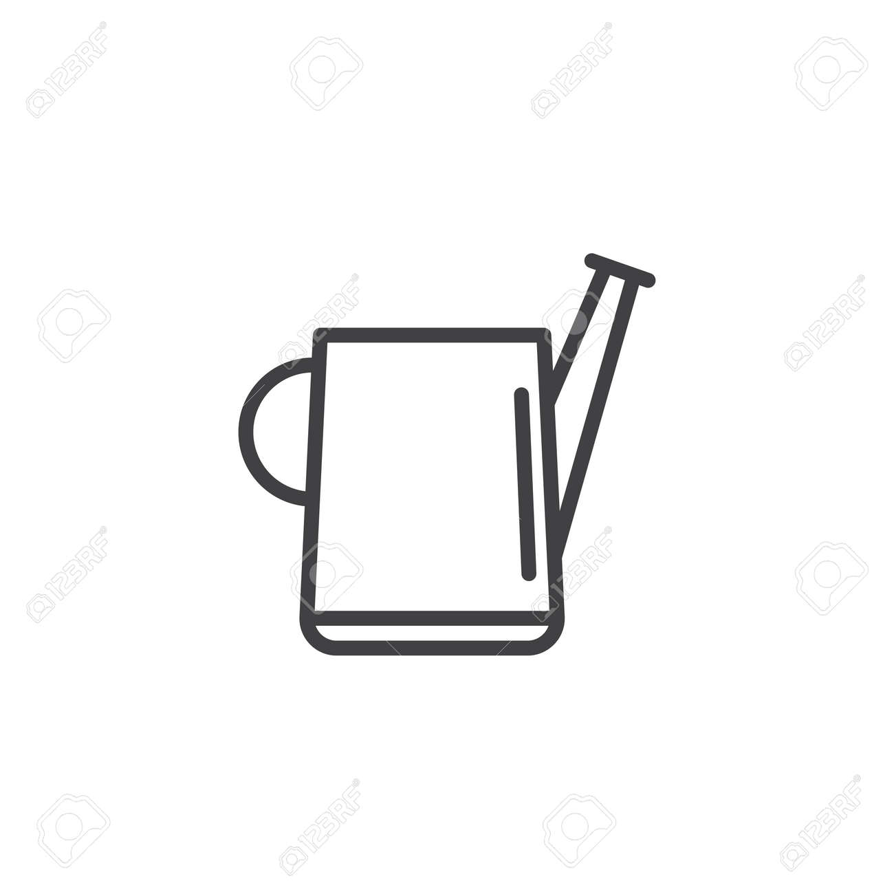 Colorable Watering Can Outline - Free Clip Art | Free clip art, Clip art,  Watering can