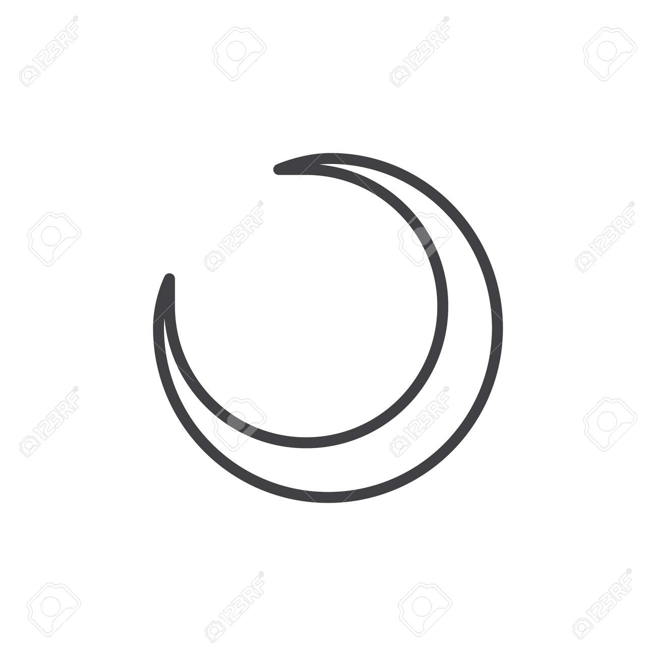 crescent moon line icon linear style pictogram isolated on white royalty free cliparts vectors and stock illustration image 85981807 crescent moon line icon linear style pictogram isolated on white