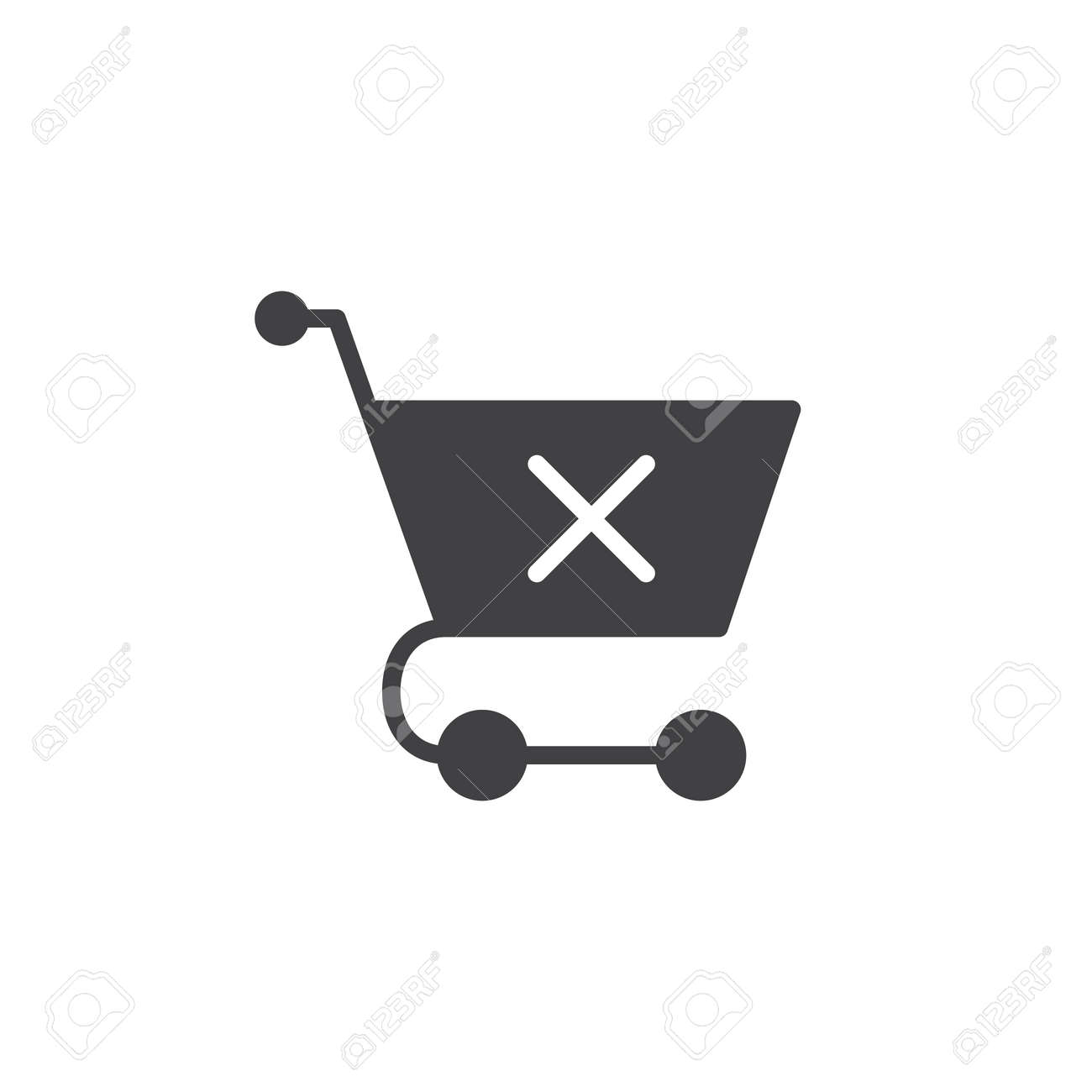 Shopping cart with x mark icon vector filled flat sign solid shopping cart with x mark icon vector filled flat sign solid pictogram isolated on buycottarizona