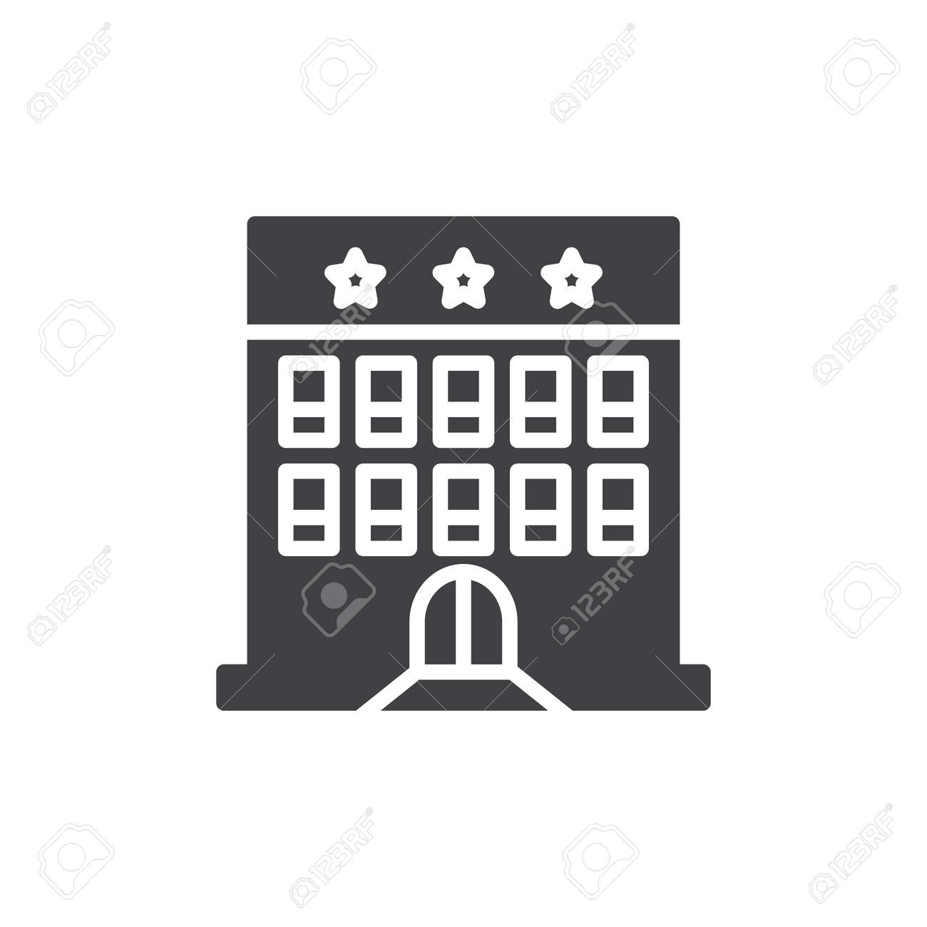 Hotel building icon vector filled flat sign solid pictogram hotel building icon vector filled flat sign solid pictogram isolated on white symbol biocorpaavc