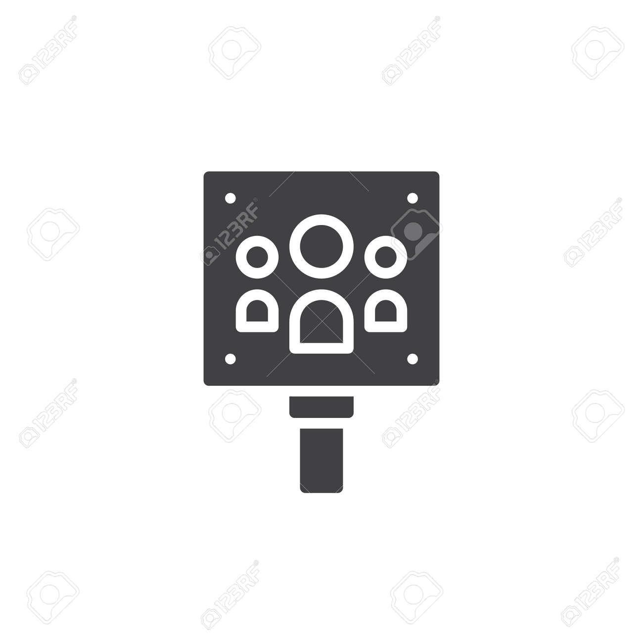 Meeting Point Icon Vector Filled Flat Sign Solid Pictogram