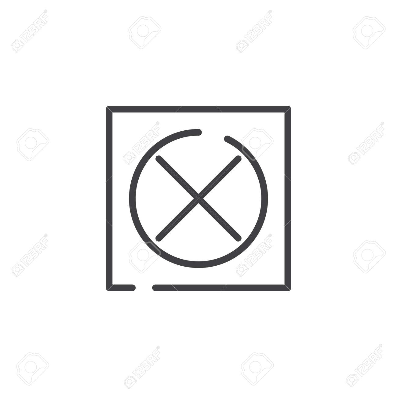 Do Not Tumble Dry Line Icon Outline Vector Sign Linear Style