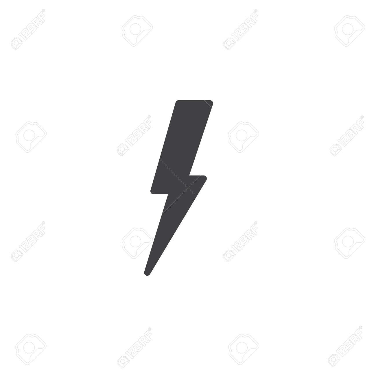 13 Lightning bolt icon vector, filled flat sign, solid pictogram..