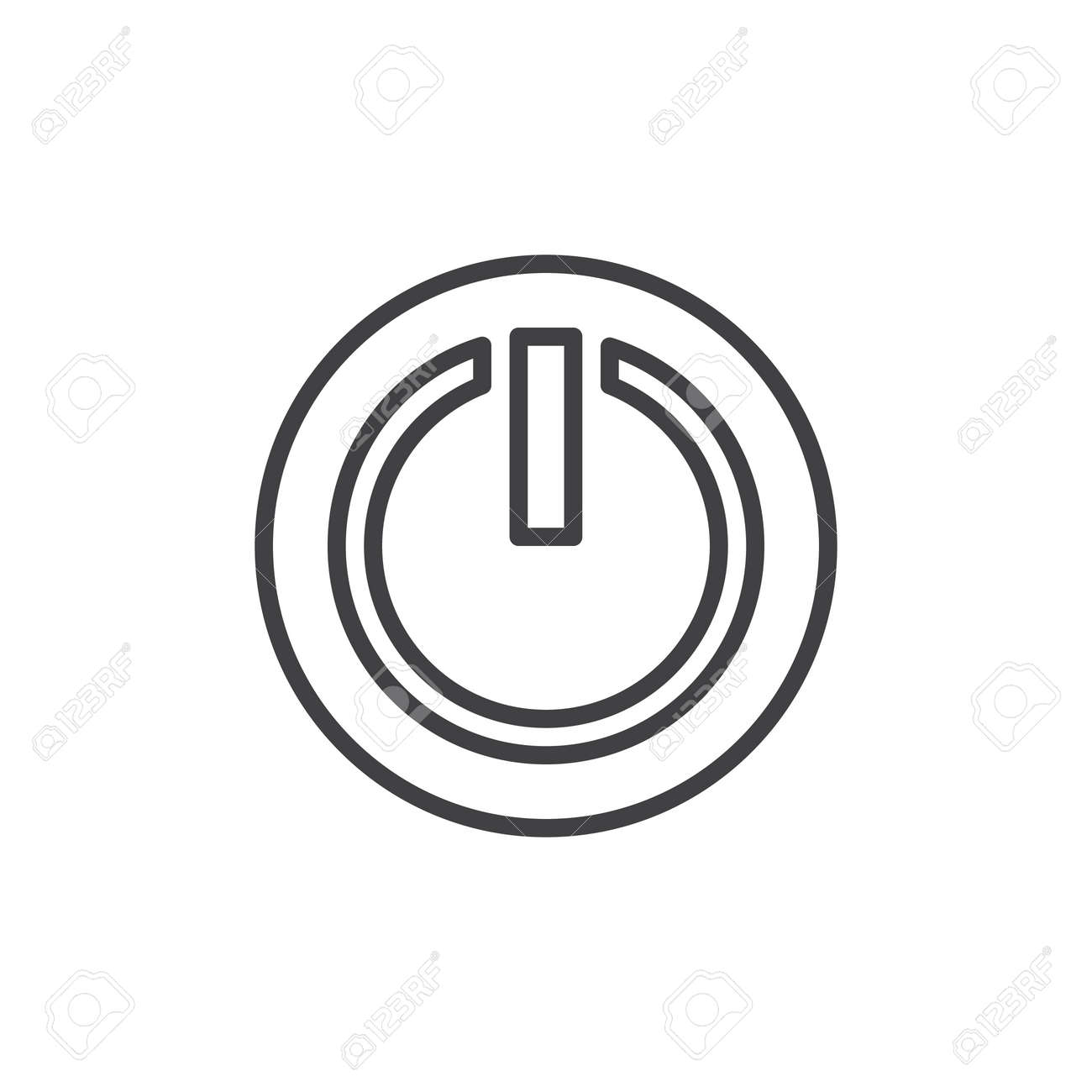 Power Off Or Power On Button Line Icon Outline Vector Sign