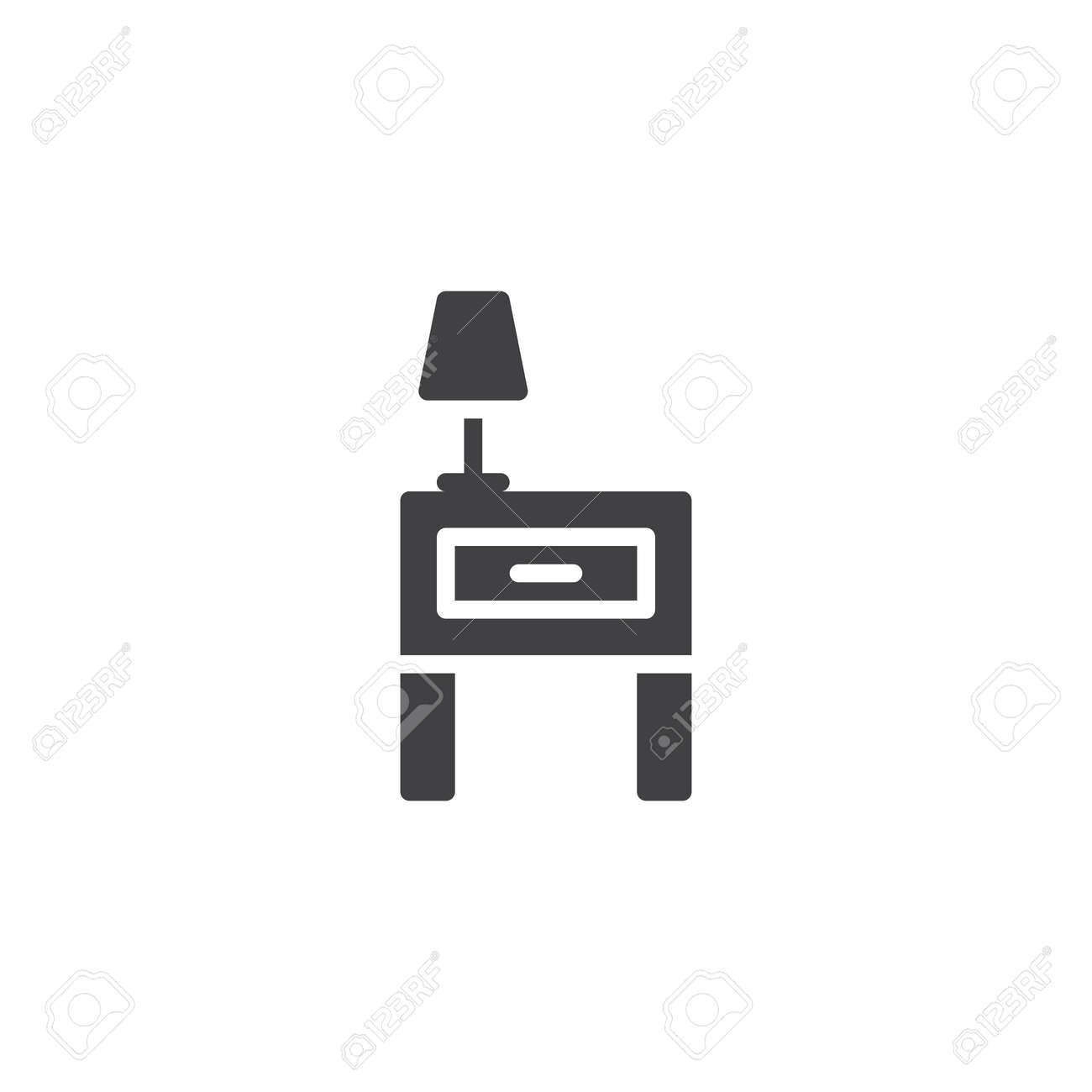 De Table Signe Icône Vecteurrempli Lampe 15tulfjkc3 Lecture Et Chevet y67gbf