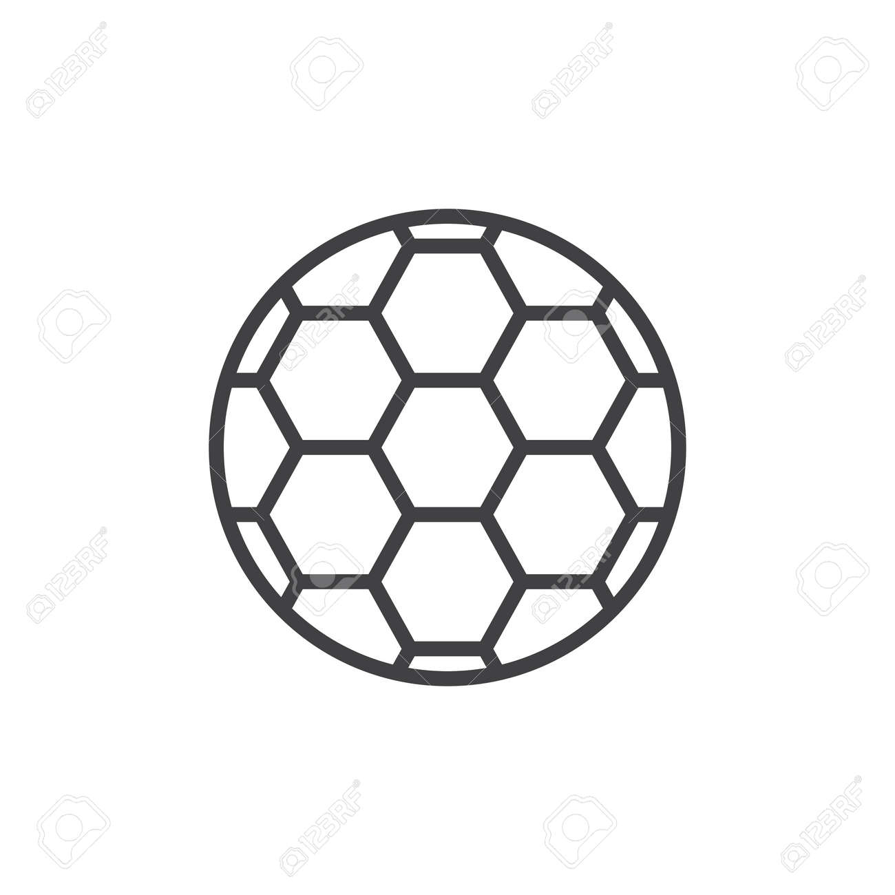 Soccer Ball Line Icon Outline Vector Sign Linear Style Pictogram