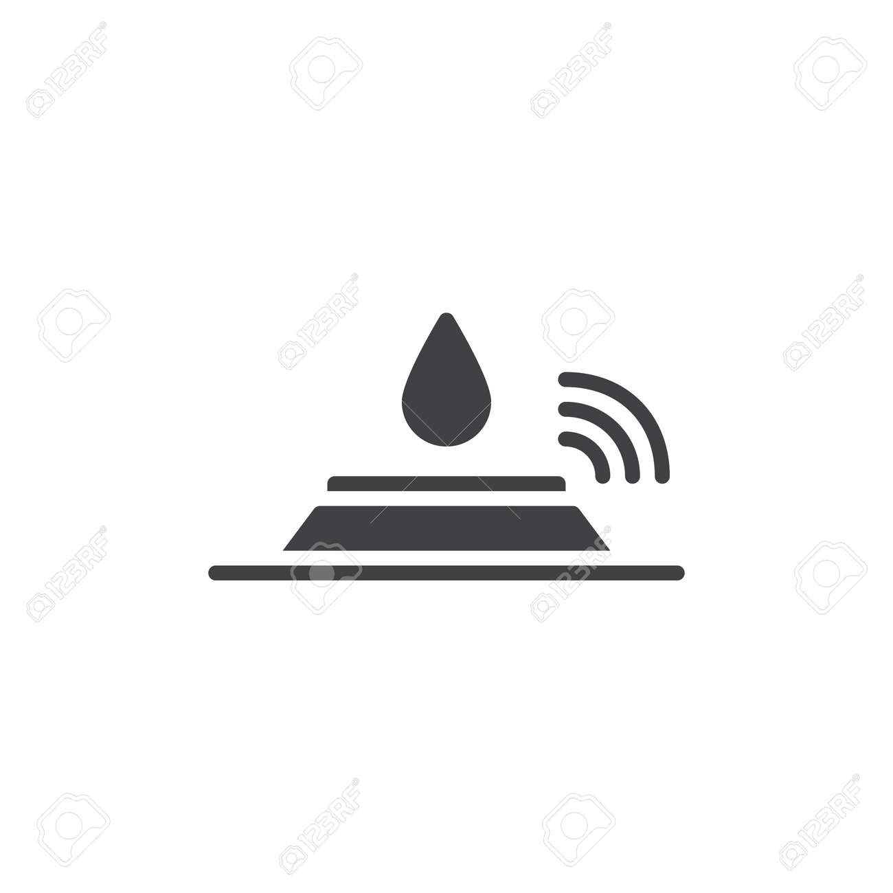 Sensor and water drop icon vector filled flat sign solid sensor and water drop icon vector filled flat sign solid pictogram isolated on white biocorpaavc