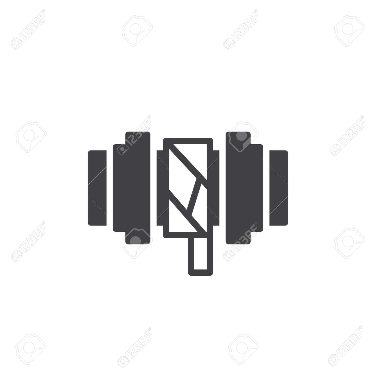 pipes improvement icon vector filled flat sign solid pictogram