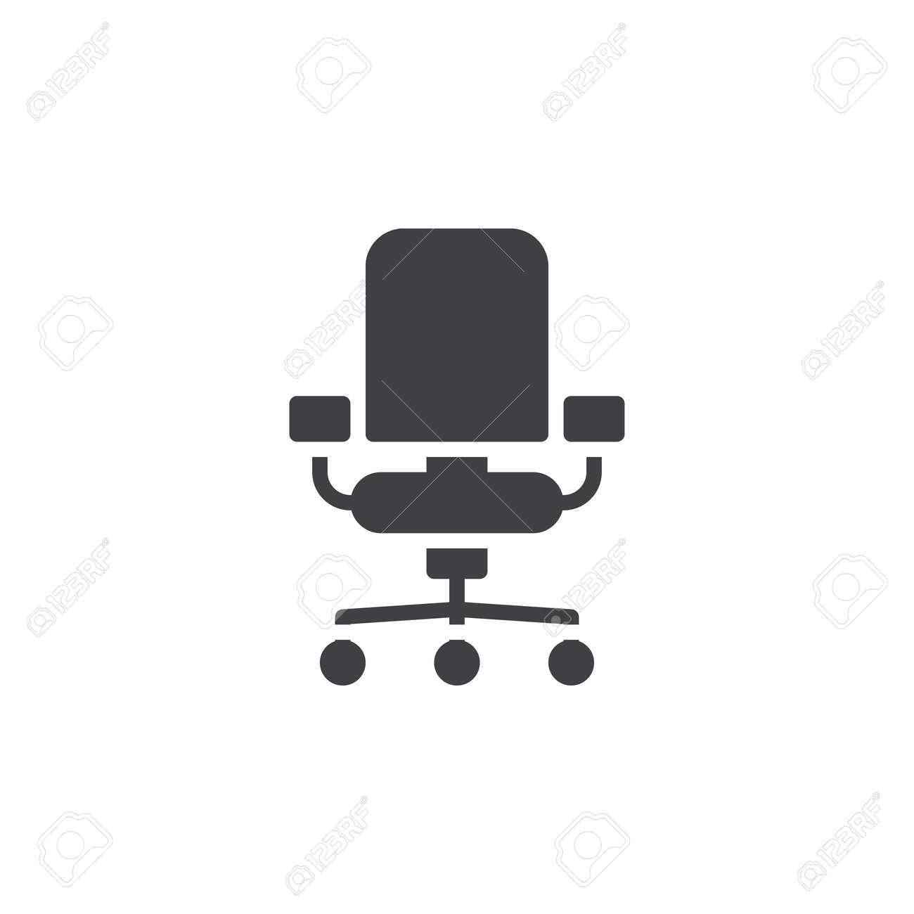 Vecteur Dicone De Chaise Bureau Rempli Signe Plat