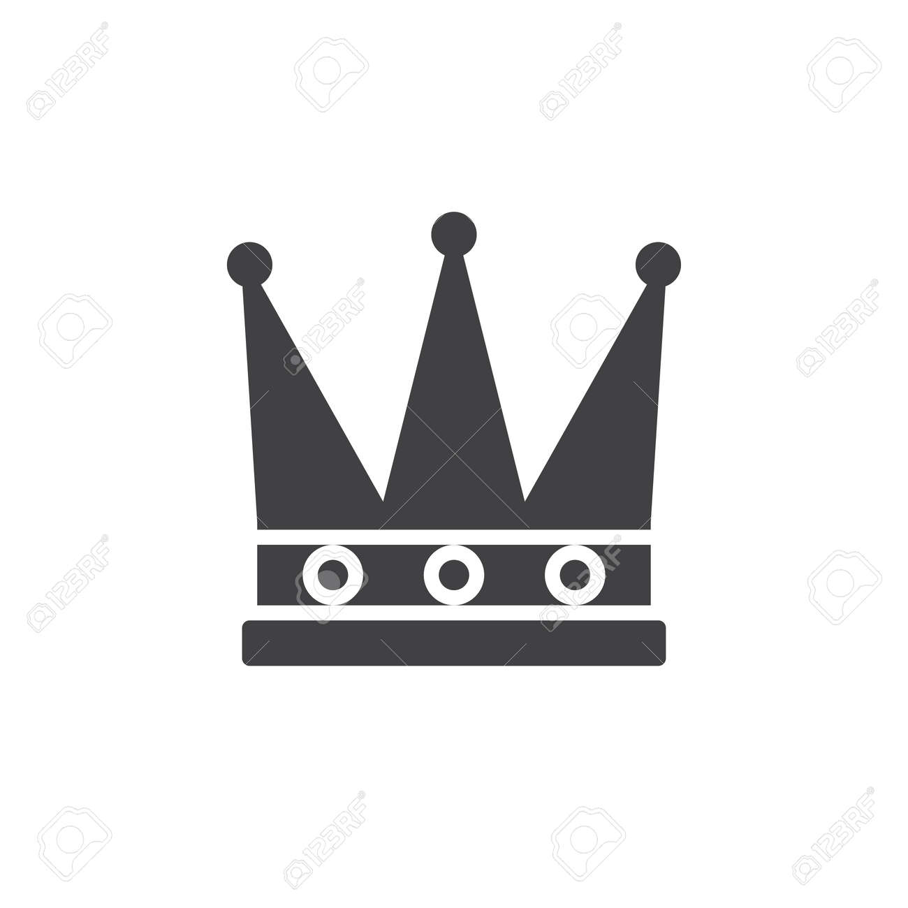 King Crown Icon Vector Filled Flat Sign Solid Pictogram Isolated