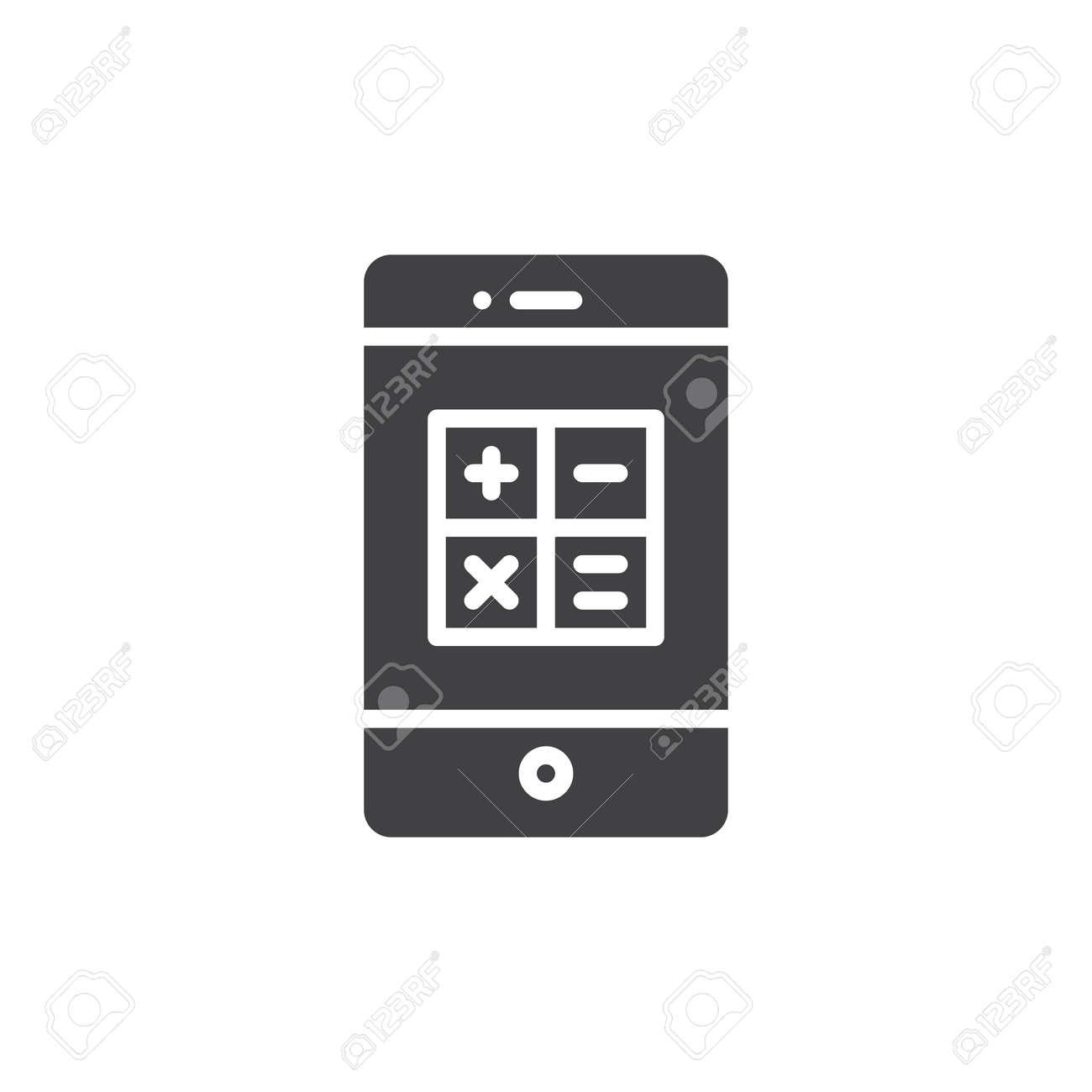 Smartphone with calculator icon