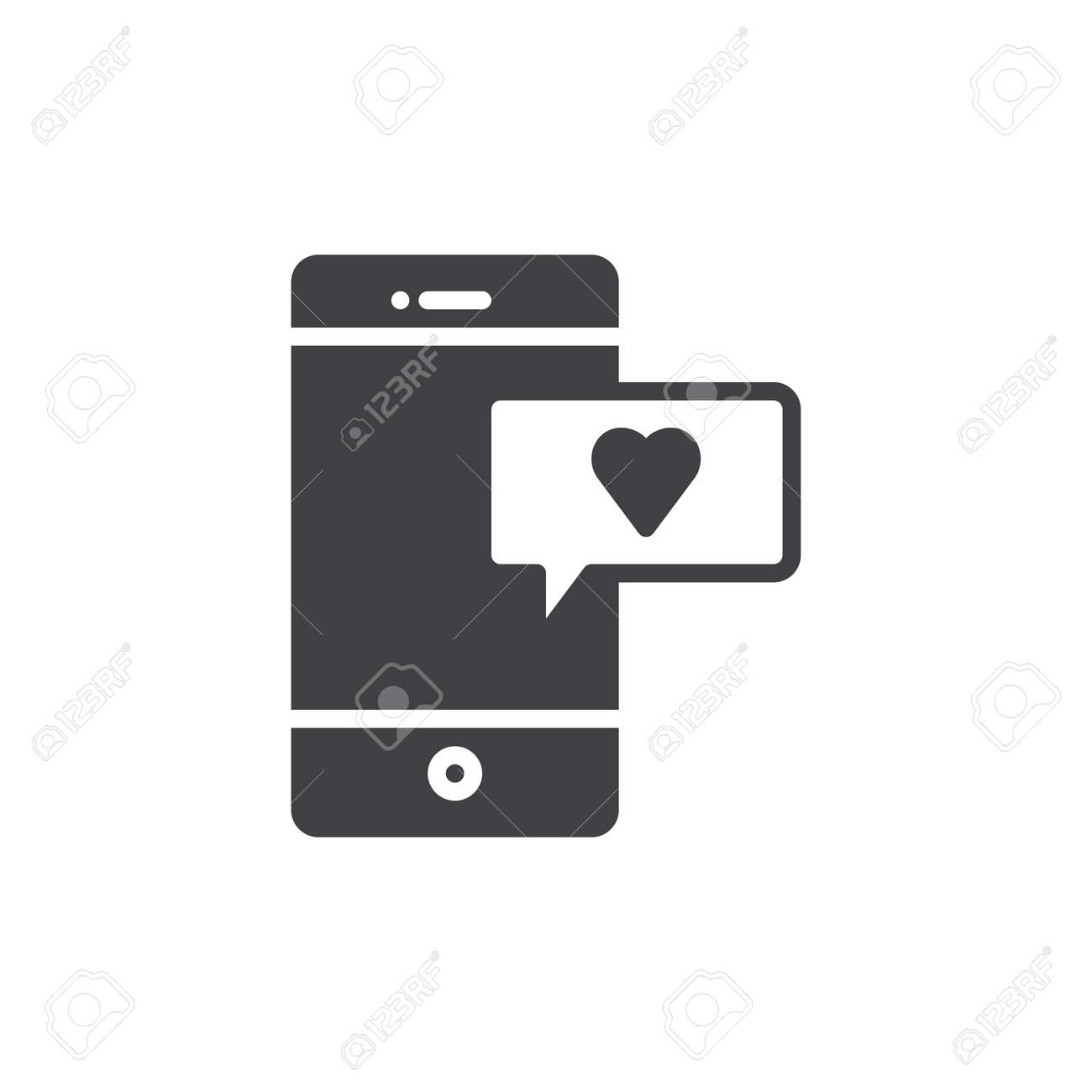 Smartphone with heart message icon vector filled flat sign smartphone with heart message icon vector filled flat sign solid pictogram isolated on white biocorpaavc