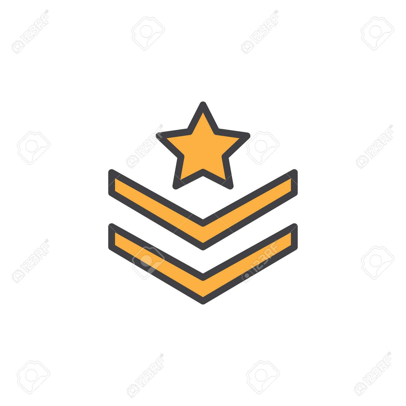 Rank shoulder straps with star filled outline icon line vector rank shoulder straps with star filled outline icon line vector sign linear colorful pictogram sciox Gallery