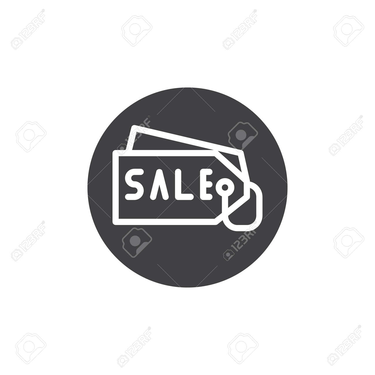 Price Tag Icon Vector Filled Flat Sign Solid Pictogram Isolated