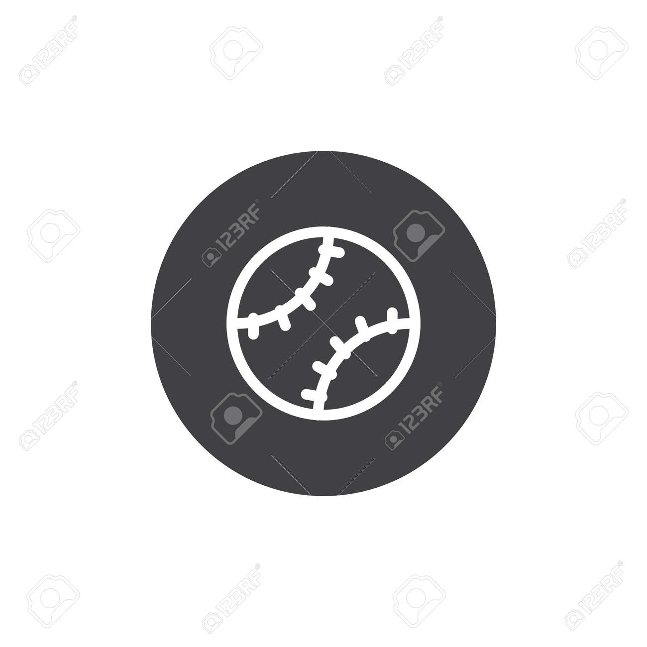 04c976338780b Baseball Ball Icon Vector