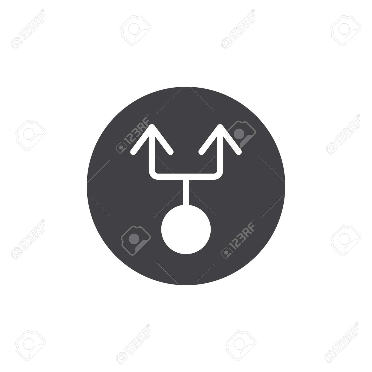 Double Arrow From Circle Icon Vector Filled Flat Sign Solid
