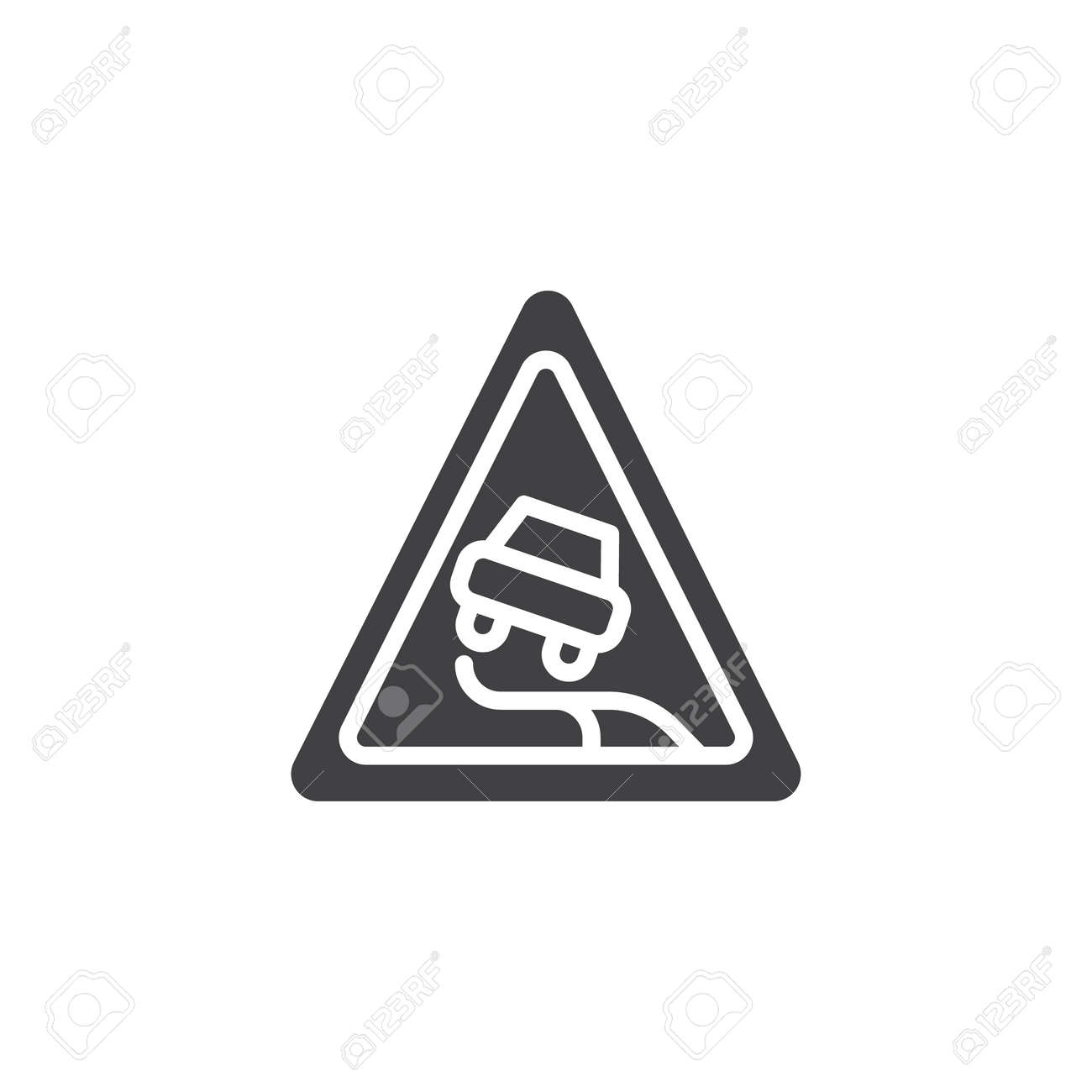 Traffic Signs Slippery Road Clipart Road Signs In Singapore - Traffic Signs Slippery  Road - Png Download (#1186407) - PinClipart