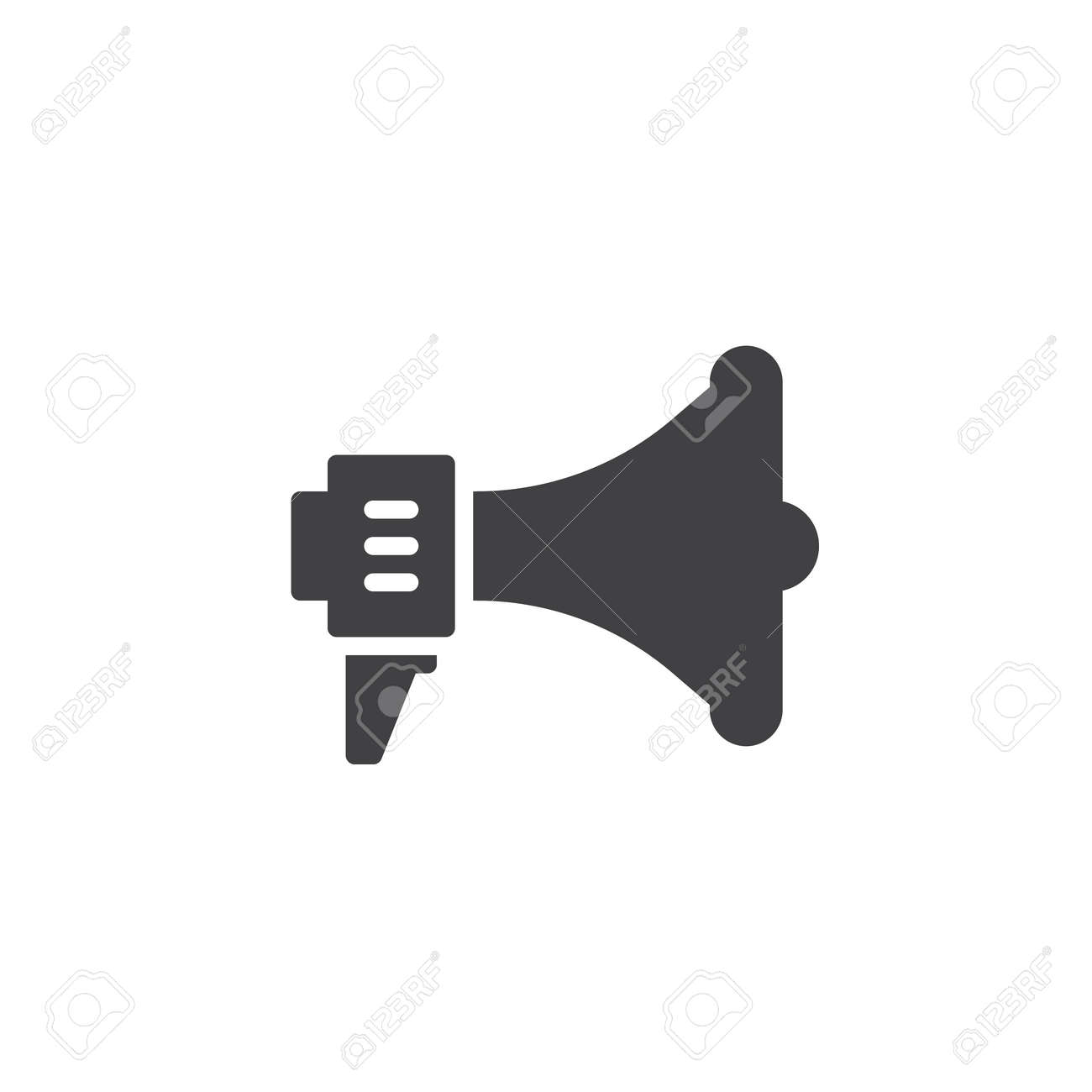 Loudspeaker Icon Vector, Filled Flat Sign, Solid Pictogram Isolated ...