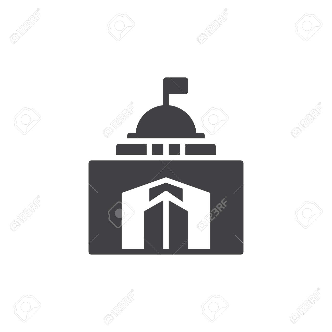 City hall building icon vector filled flat sign solid pictogram city hall building icon vector filled flat sign solid pictogram isolated on white biocorpaavc Image collections