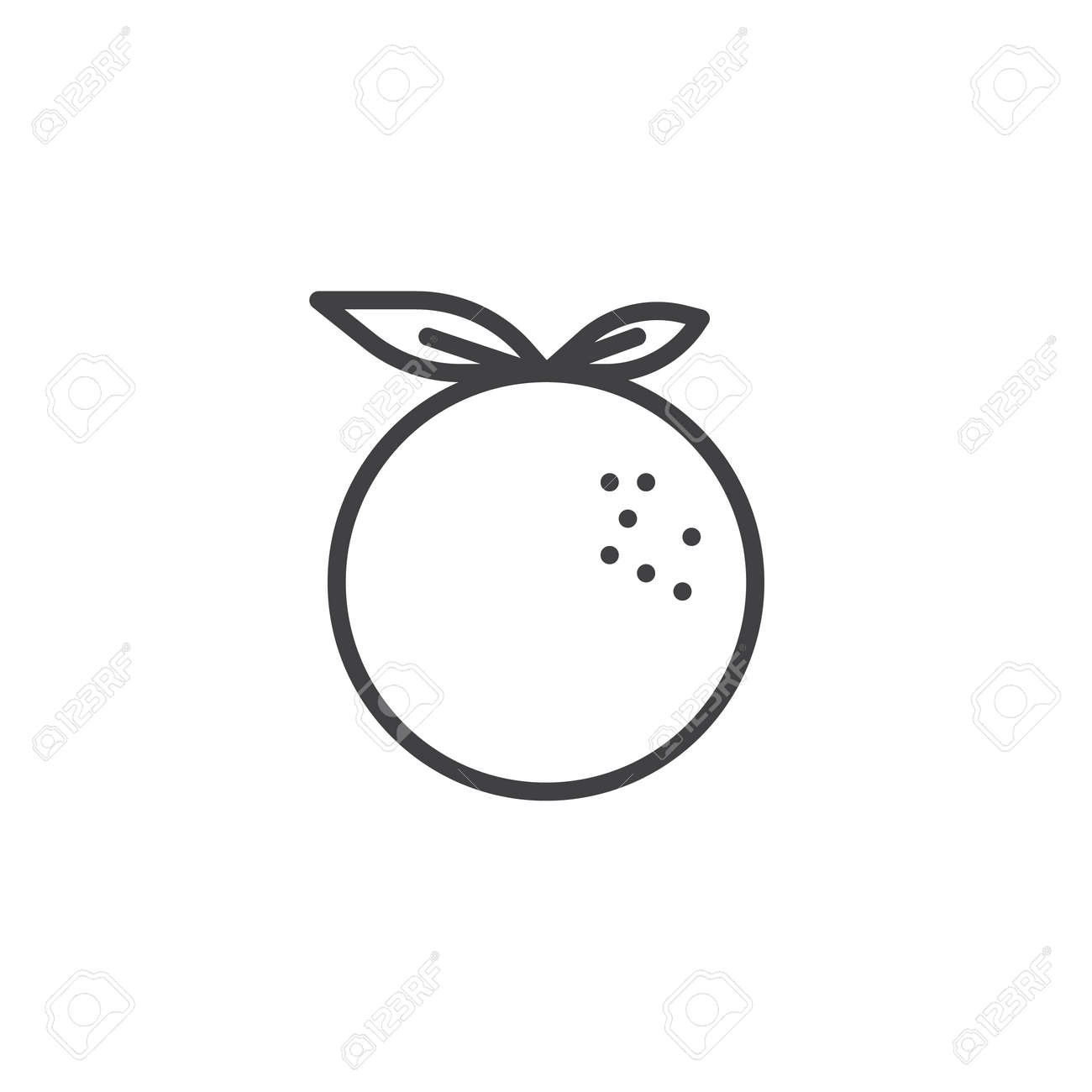 Orange Fruit Outline Pictures