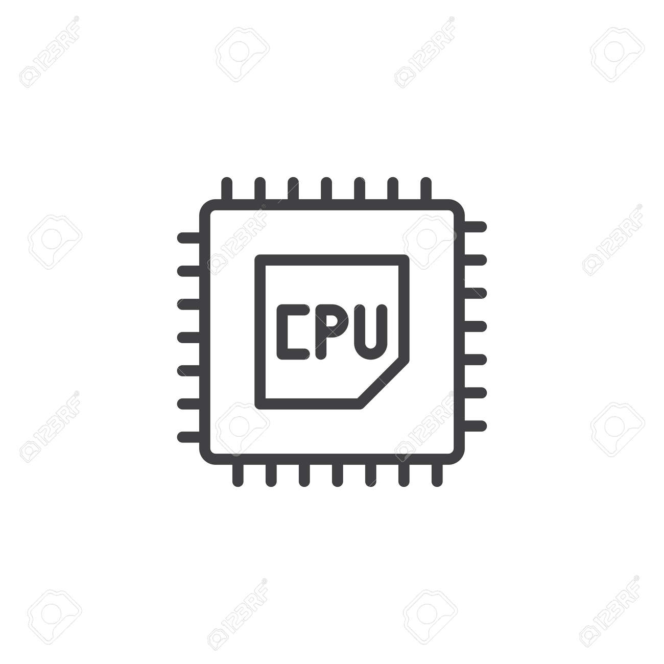 cpu processor line icon outline vector sign linear style pictograph royalty free cliparts vectors and stock illustration image 94384139 cpu processor line icon outline vector sign linear style pictograph