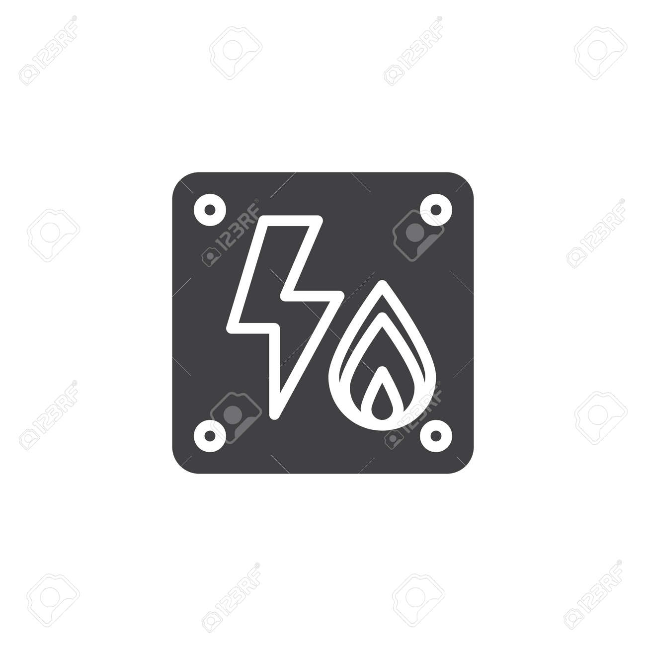 Electricity Flammable Icon Vector, Filled Flat Sign, Solid Pictogram ...