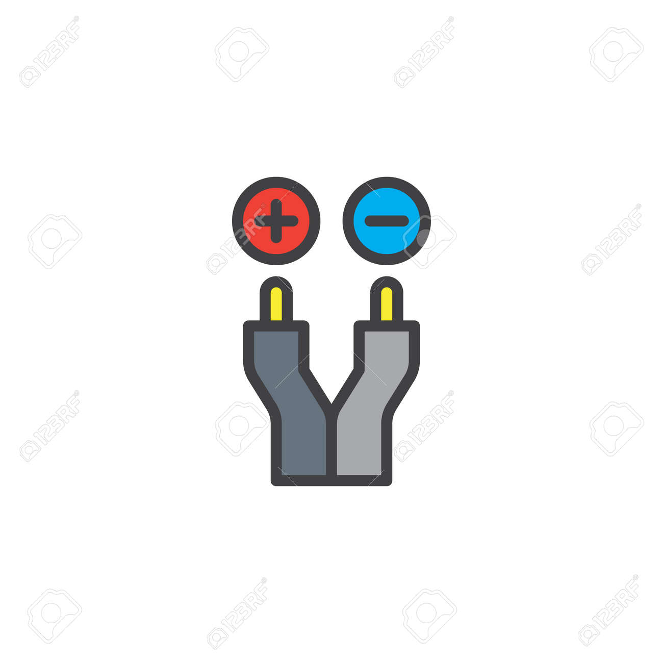 Electric Wire Filled Outline Icon Vector Illustration Royalty Free ...