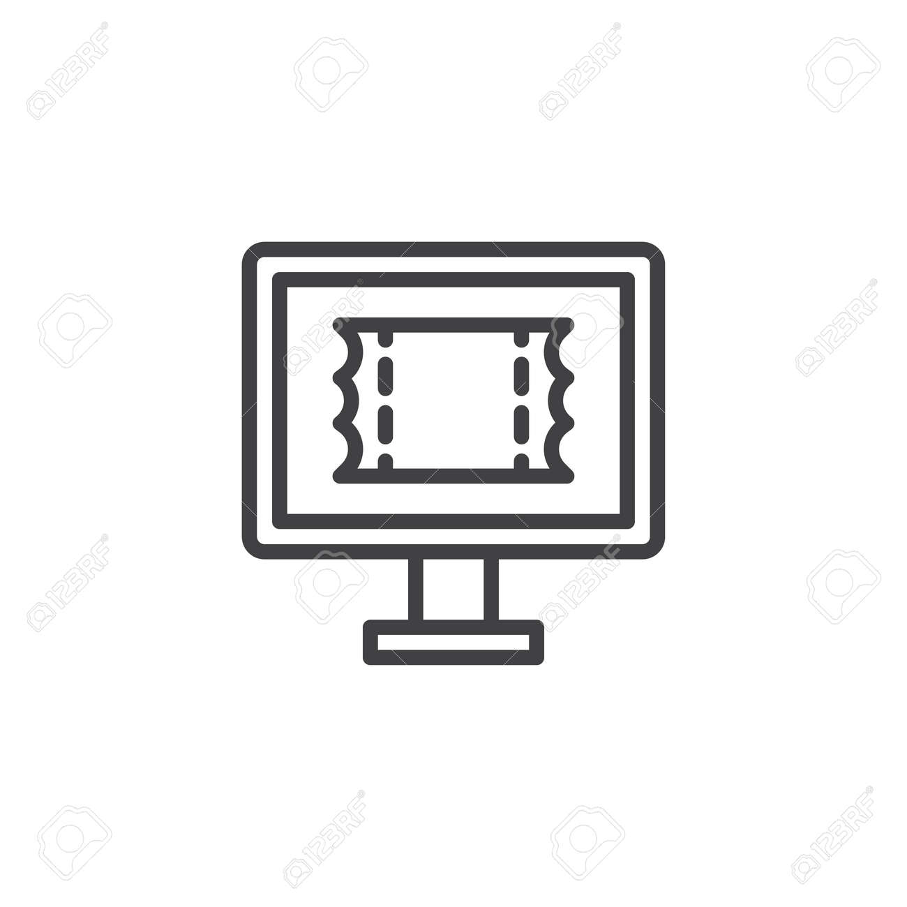 online booking outline icon linear style sign for mobile concept