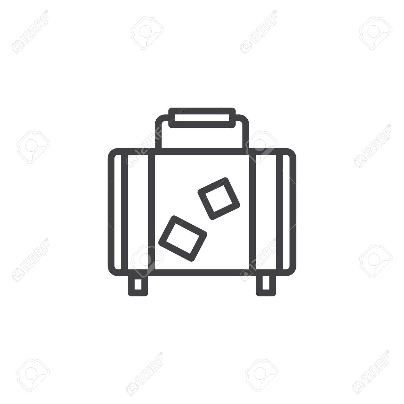 Travel suitcase outline icon. linear style sign for mobile concept..
