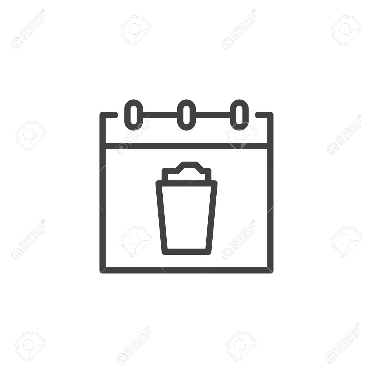 saint patrick s day calendar outline icon linear style sign