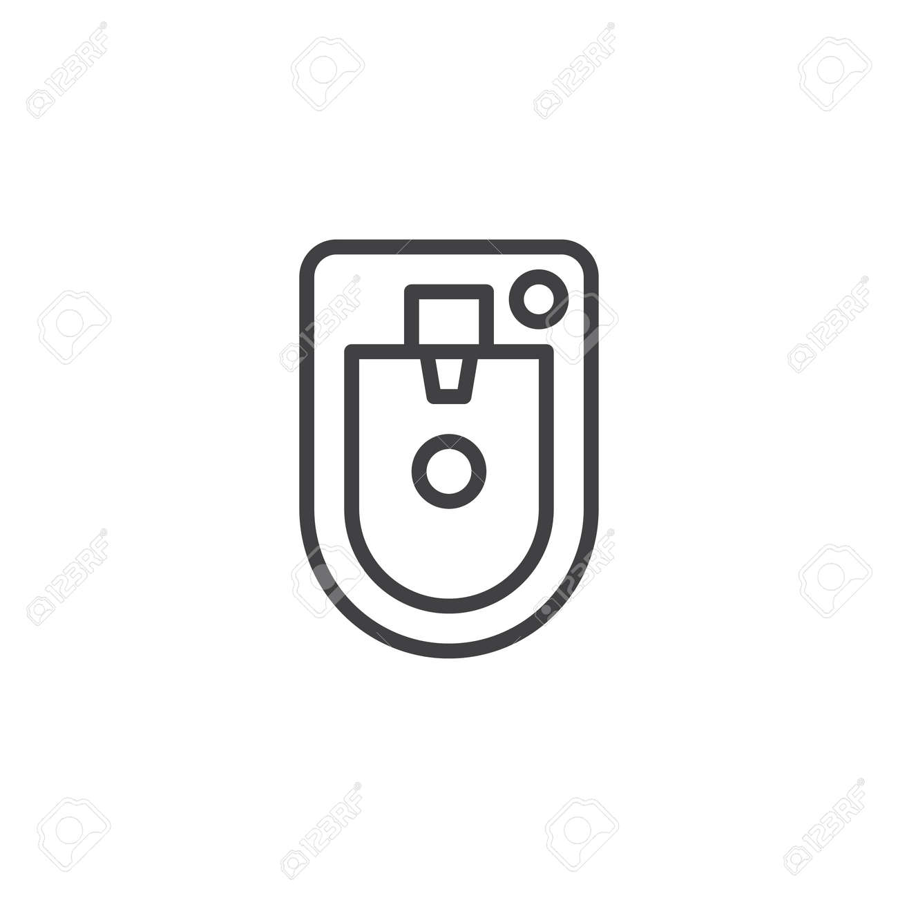 Bidet Top View Outline Icon Linear Style Sign For Mobile Concept Royalty Free Cliparts Vectors And Stock Illustration Image 98632410