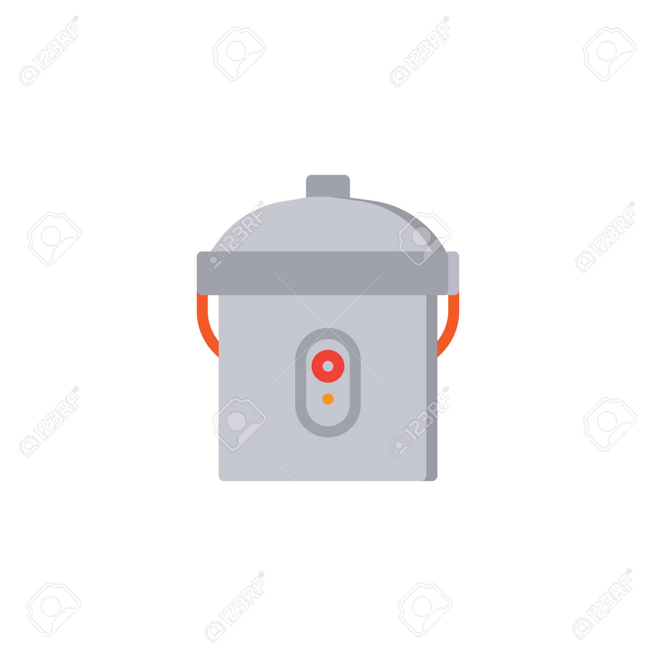 Multi Cooker Flat Icon, Vector Sign, Colorful Pictogram Isolated ...