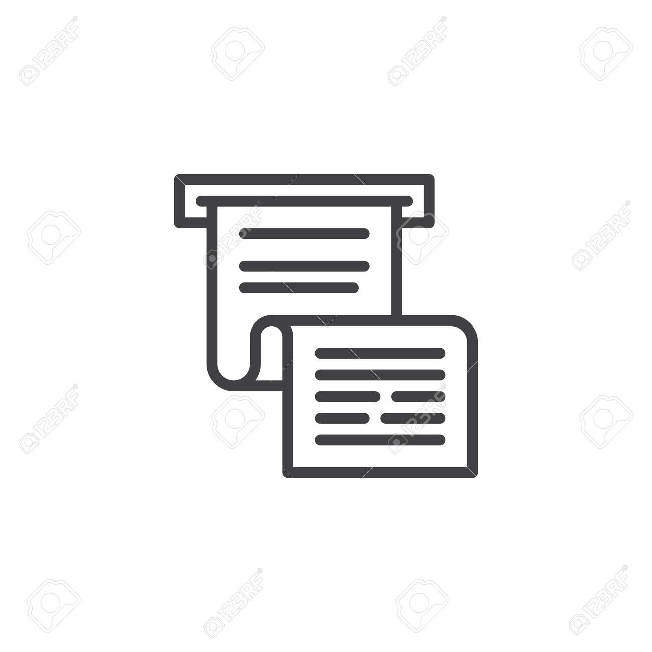invoice or paycheck outline icon linear style sign for mobile